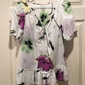 Gap watercolor top, size S. purple and green